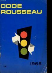 Codes Rousseau - Code De La Route - Couverture - Format classique