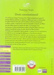 Droit constitutionnel (2e édition) - 4ème de couverture - Format classique