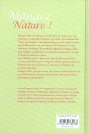 Mangez nature ! - 4ème de couverture - Format classique