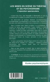 Les Mises En Scene Du Theatre Et Du Psychodrame ; L'Injonction Spectaculaire - Intérieur - Format classique
