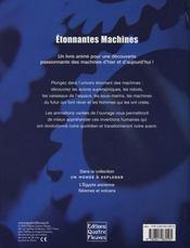 Étonnantes machines - 4ème de couverture - Format classique