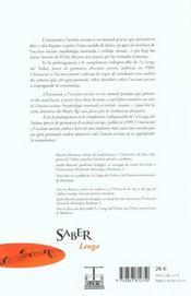 Iniciacion A L Occitan Ancian - 4ème de couverture - Format classique
