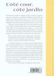 Cote Cour, Cote Jardin - 4ème de couverture - Format classique