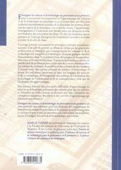 Enseigner les sciences et la technologie au préscolaire et au primaire - 4ème de couverture - Format classique