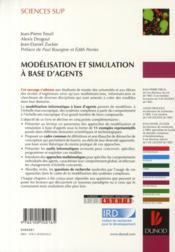 Modélisation et simulation à base d'agents ; exemples commentés, outils informatiques et questions théoriques ; master, écoles d'ingénieurs - 4ème de couverture - Format classique