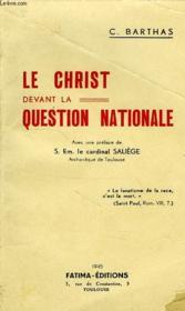 Le Christ Devant La Question Nationale - Couverture - Format classique