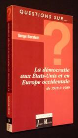 La demoratie liberale aux etats-unis et en europe occidentale - Couverture - Format classique