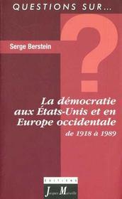 La demoratie liberale aux etats-unis et en europe occidentale - Intérieur - Format classique