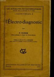 L'Electro-Diagnostic - Couverture - Format classique