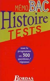 Les Tests D'Histoire - Intérieur - Format classique