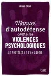 Manuel d'auto-défense contre les violences psychologiques - Couverture - Format classique