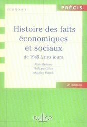 Histoire des faits économiques et sociaux de 1945 à nos jours (3e édition) - Intérieur - Format classique