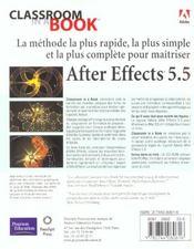 After Effects 5.5 - 4ème de couverture - Format classique