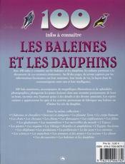 100 Infos A Connaitre ; Les Baleines Et Les Dauphins - 4ème de couverture - Format classique