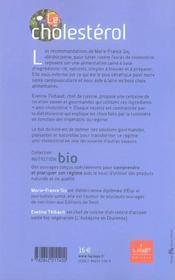 Le Cholesterol, Recettes Naturelles - 4ème de couverture - Format classique