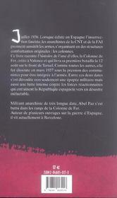 Chronique Passionnee De La Colonne De Fer - 4ème de couverture - Format classique
