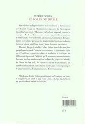 Le corps du diable ; philosophes et sorcières à la Renaissance - 4ème de couverture - Format classique