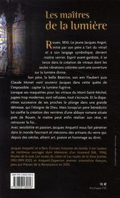 Les maitres de la lumiere - 4ème de couverture - Format classique