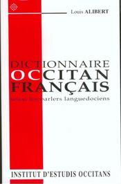 Dictionnaire occitan-français selon les parlers languedociens - Intérieur - Format classique
