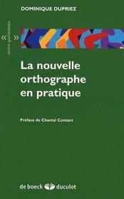 La nouvelle orthographe en pratique - Couverture - Format classique