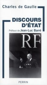 Discours d'état - Couverture - Format classique