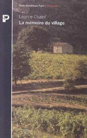 La mémoire du village - Couverture - Format classique