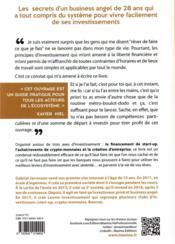 Start-up, cryptomonnaies et business ; mes secrets d'investisseur - 4ème de couverture - Format classique