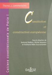 Constitution et construction européenne - Intérieur - Format classique