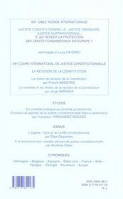 Annuaire International De Justice Constitutionnelle 2004 - 4ème de couverture - Format classique
