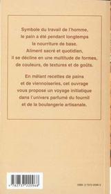 Pains et viennoiseries - 4ème de couverture - Format classique