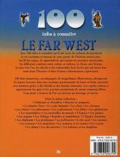 100 Infos A Connaitre ; Le Far West - 4ème de couverture - Format classique