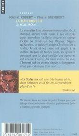 La malerune t.3 ; la belle arcane - 4ème de couverture - Format classique