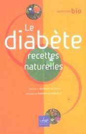 Le Diabete, Recettes Naturelles - Intérieur - Format classique