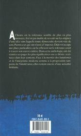 Sur la tolérance ; et autres textes - 4ème de couverture - Format classique