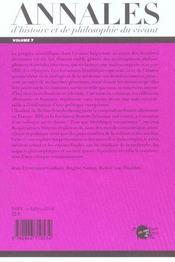 Les Annales D'Histoire Et De Philosophie Du Vivant, N 7, Les Cellules Souches - 4ème de couverture - Format classique