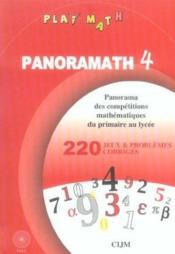 Panoramath 4 - Couverture - Format classique
