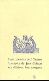 Lueur Premiere - Couverture - Format classique