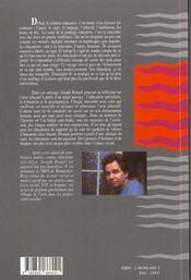 L'acte educatif - 4ème de couverture - Format classique