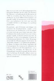 Enchantements. melanges offerts a yves vade - 4ème de couverture - Format classique