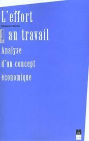 L'effort au travail analyse d'un concept economique - Intérieur - Format classique
