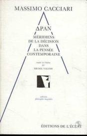 Dran - Meridiens De La Decision Dans La Pensee - Couverture - Format classique