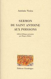 Sermon de Saint Antoine aux poissons - Couverture - Format classique