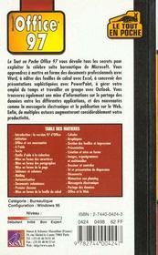 Office 97. Microsoft - 4ème de couverture - Format classique