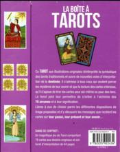 La boîte à tarots ; apprenez à tirer et interpréter les cartes - 4ème de couverture - Format classique