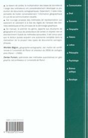 La Representation Des Donnees Geographiques - 4ème de couverture - Format classique