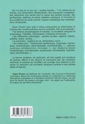 Comment Soigner Les Jambes Lourdes - 4ème de couverture - Format classique