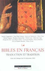 Bible, Traduction Et Tradition En Francais - Intérieur - Format classique