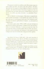 Les eglises de paris saint-julien-le-pauvre, saint-severin, notre-dame de paris, saint-merry, saint - 4ème de couverture - Format classique
