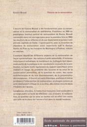 Theorie de la restauration - 4ème de couverture - Format classique