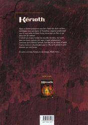 Kerioth t.2 ; l'étoile noire - 4ème de couverture - Format classique
